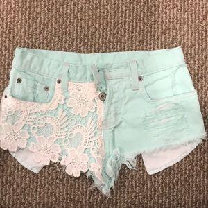 Carmar Bright Blue Jean Shorts